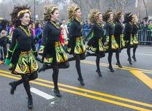 De parade van Chicago Heilige Patrick Stock Foto's