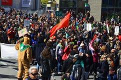 De parade van de aardedag Stock Foto's