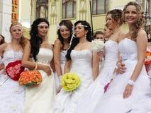 De parade van de bruid Royalty-vrije Stock Foto's