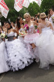 De parade van de bruid Royalty-vrije Stock Foto