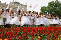 De parade van de bruid Stock Fotografie