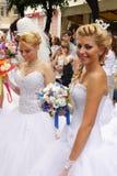 De parade van de bruid Stock Foto's