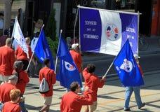 De Parade van de Dag van de Arbeid Royalty-vrije Stock Afbeeldingen