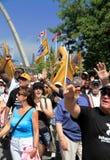 De Parade van de Dag van de Arbeid Stock Foto's