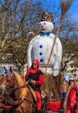 De parade van de de lentevakantie in de stad van Zürich, Zwitserland Stock Afbeeldingen