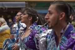 De Parade van de de Onafhankelijkheidsdag van Bolivië Stock Foto's