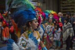 De Parade van de de Onafhankelijkheidsdag van Bolivië Stock Afbeelding