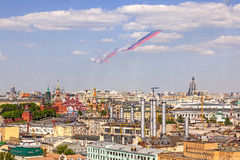De parade van de de Overwinningsdag van Moskou Stock Foto's