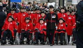 2015, de Parade van de Herinneringsdag, Londen Stock Fotografie