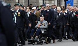 2015, de Parade van de Herinneringsdag, Londen Stock Foto's