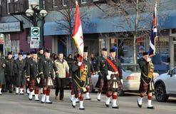 De parade van de herinneringsdag op Tache Ave Stock Foto's
