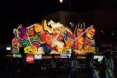 De parade van de Nebutavlotter in Aomori-stad, Japan op 6 Augustus, 2015 royalty-vrije stock fotografie