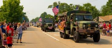 De parade van de onafhankelijkheidsdag Stock Foto