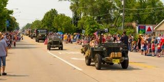 De parade van de onafhankelijkheidsdag Royalty-vrije Stock Fotografie
