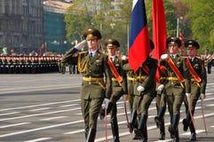 De parade van de overwinning. Stock Foto