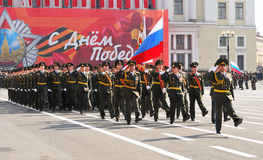 De parade van de overwinning. Royalty-vrije Stock Fotografie