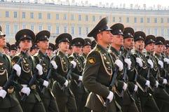 De parade van de overwinning. Stock Foto's