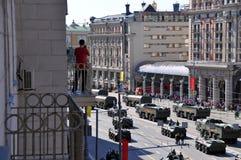 De parade van de overwinningsdag in Moskou, Rusland Stock Foto's