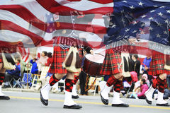 De Parade van de patriottendag Royalty-vrije Stock Foto's