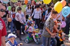 De parade van de peuter Stock Fotografie