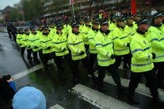 De Parade van de politie Stock Fotografie