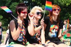 De parade van de regenboog Stock Foto