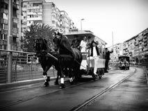 De parade van de tram Stock Foto's