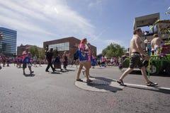 De Parade van de trots, 3 Juni, 2012. Salt Lake City, Utah Royalty-vrije Stock Foto's