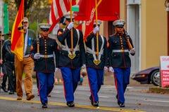 De Parade 2016 van de veteranendag Stock Foto