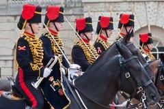 De parade van de Wachten van het Paard in Londen Stock Foto's