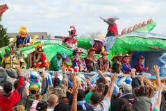 De Parade van Gras van Mardi Stock Afbeeldingen