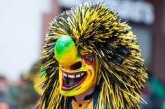 De parade van het masker in Freiburg, Duitsland Stock Afbeelding