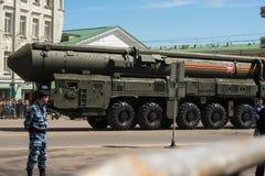 De parade van het vliegtuigenonkruid van een overwinning in Moskou Royalty-vrije Stock Foto