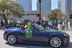 De Parade van Houston St Patrick Stock Foto