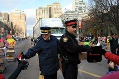 De Parade van Kerstmis in Toronto Stock Foto's