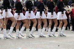 De parade van Majorettes Stock Afbeeldingen