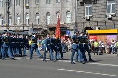 De parade van de onafhankelijkheidsdag in Kyiv 2018 stock afbeeldingen