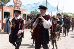 De parade van renaissancefaire Stock Afbeeldingen