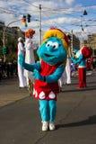 De parade van Santa Claus Royalty-vrije Stock Foto's