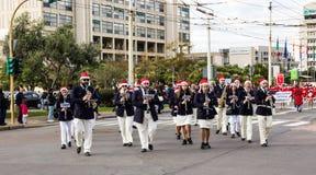 De parade van Santa Claus Royalty-vrije Stock Afbeeldingen