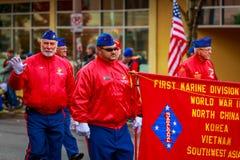 De Parade 2017 van de veteranendag Stock Fotografie