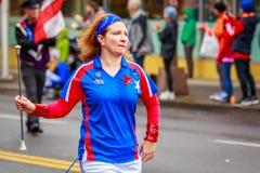 De Parade 2017 van de veteranendag Stock Afbeelding