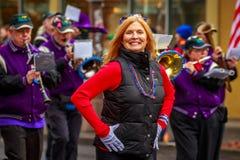De Parade 2017 van de veteranendag Stock Foto