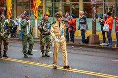 De Parade 2017 van de veteranendag Royalty-vrije Stock Fotografie