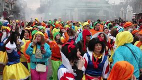 De Parade van Xanthi Carnaval stock videobeelden