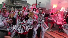 De Parade van Xanthi Carnaval stock video