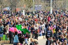 De parade van zeepbels Dreamflash bij VDNH Stock Foto's