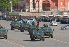 De paraderepetitie van de overwinning: Gaz-2330   Royalty-vrije Stock Foto