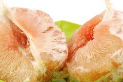 De paradisi Citrusvrucht of gepelde grapefruit stock afbeeldingen