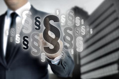 De paragrafen worden geselecteerd door zakenman Stock Fotografie